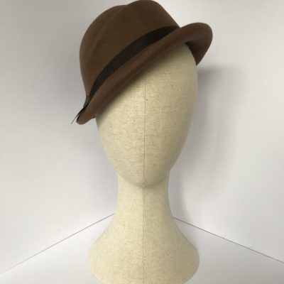 Miss Pierce 1940s asymmetric percher hat in wool felt – back soon in new colours!