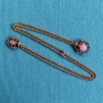 1950s Double Brooch or Chatelaine with Chains or Doublet Brooch