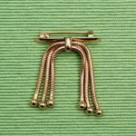1930s Bar Pin with Three Snake Chains