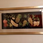 1970s Embroidered Fruit Picture