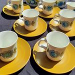 J & G Meakin 6 x Topic Cups and Saucers