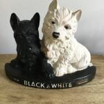 Black and White Whisky Advertising Dogs