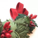 Leaves and berries vintage-style hair comb