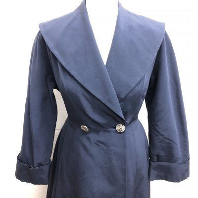Princess Coat with large decorative buttons 1950s