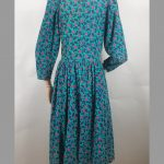 1980s Laura Ashley floral needle cord smock dress