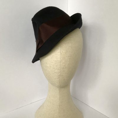 Miss Haddington – wool felt trilby-style day hat – Back soon in new colours !!
