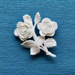 White Roses Brooch