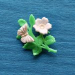 White and Green Butterfly Brooch