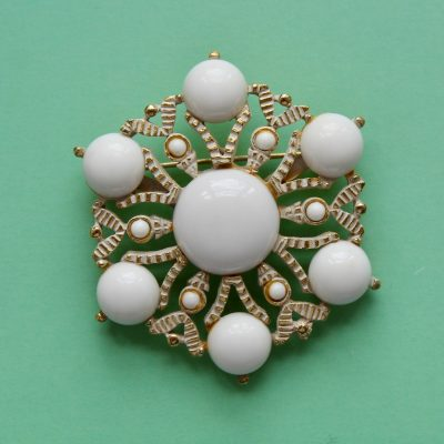 White Snowflake Brooch