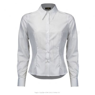 Spearpoint Collar Shirt – White
