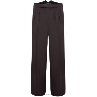 Fishtail Back Trousers – Brown Twill