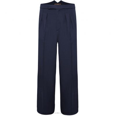 Fishtail Back Trousers – Navy Twill
