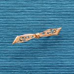 Filigree Brass Collar or Lace Pins