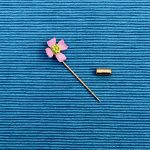 Pink Flower Stick Pin