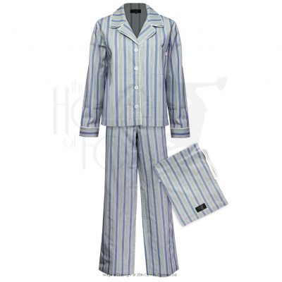 Boyfriend Pyjamas – Blue Stripe