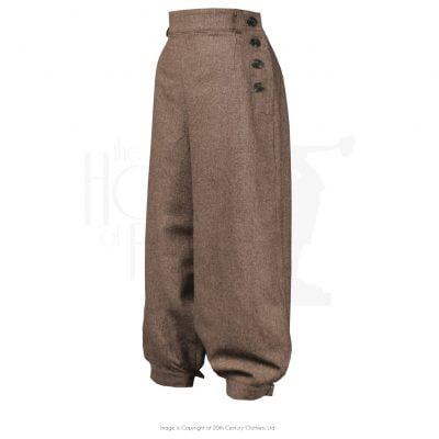 Ladies Plus Fours – Brown Herringbone