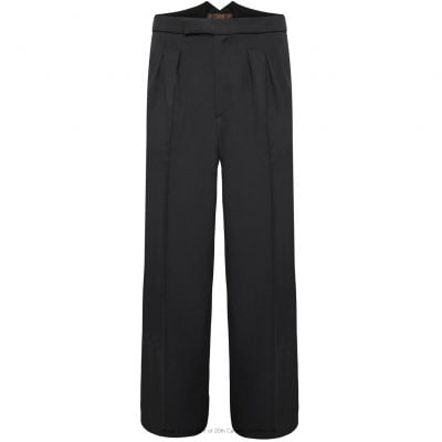 Fishtail Back Trousers – Charcoal Twill