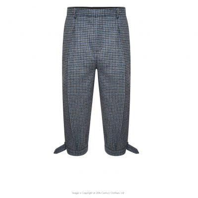 Plus Fours in Blue/Grey Check