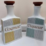 Pair of West German Ceramic Decanters 1950/60's