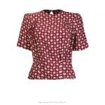 1940s Meet Again Blouse – Wine Deco Dot