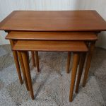 Vintage Teak Nest of Three Coffee Tables Made in Norway