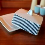 Hornsea Summit Black and white Butter Dish