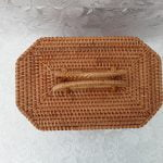 New Vintage Inspired Rattan Handbag Bettie-Jane, 1950s / 1960s style