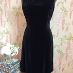 1960s JOHN SELBY OF LONDON VELVET DRESS