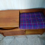 Vintage Teak Chippy Heath Telephone Hall Table Seat