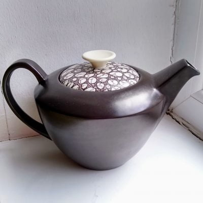 Poole Pottery black pebble teapot