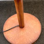 FAUX LEATHER FLOOR LAMP BY DAVID HUNT WITH 22ins 50'S SHADE