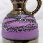 UNUSUAL PURPLE COLOURED W GERMAN FAT LAVA VASES 60/70's