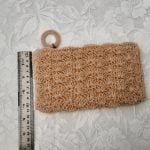 1960s Ivory Coloured Textured Fine Beadwork Clutch Bag / Purse Original Vintage Mid Century