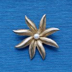 1970s Sarah Coventry Flower Brooch with Pearl