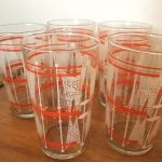 Set of 5 Vintage Glass Tumblers