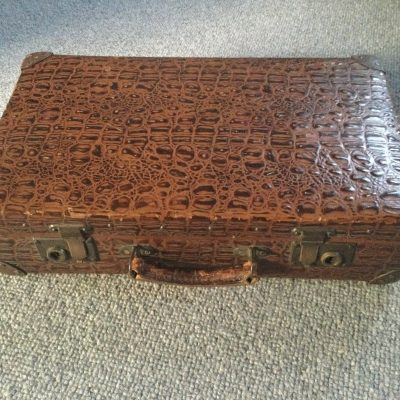 Vintage Mock Crocodile Suitcase