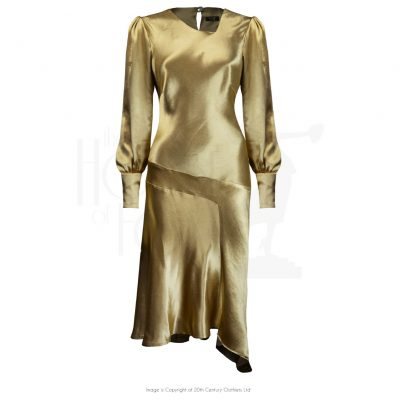 Late 20s Queenie Dress – Gold Satin