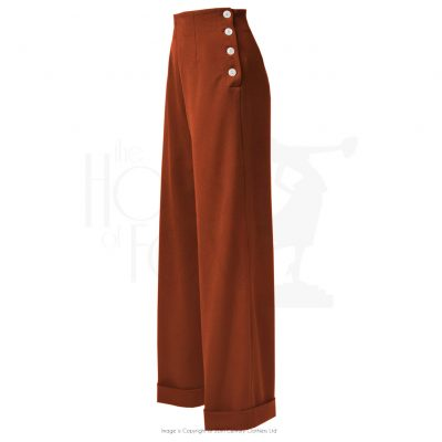 1940s Swing Trousers – Rust