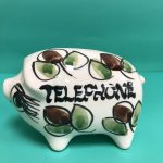 Vintage 1960s Geoffrey Maund Telephone Money Piggy Bank