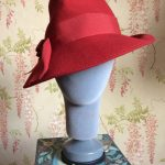 LATE 1980s/ EARLY 1990s VINTAGE MONSOON RED TRILBY