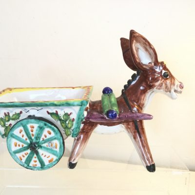 Large Italian Studio Pottery Donkey Planter