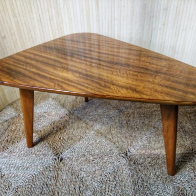 Vintage Satinwood Alfred Cox ? Triangular Coffee Side Table
