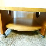 Vintage Hand Made Oak Low Round Geometric Coffee Table