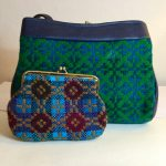 Vintage Welsh Wool Tapestry Bag & Purse