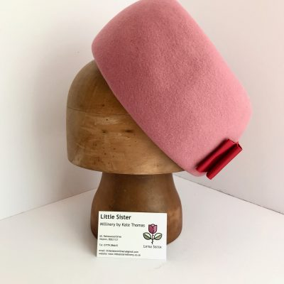 Miss Hepburn – 1960s-style wool pillbox in dusky pink