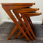 NEST OF THREE TABLES BY SWEDISH DESIGNER BENGT RUDA 1950/60'S