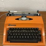 1970s Orange Typewriter made by Adler Contessa