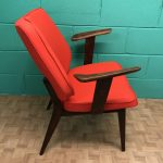 Vibrant Orange 1960's Chair