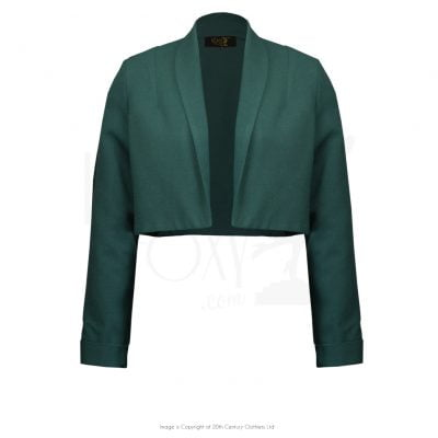 1940s Mix & Match Bolero – Bottle Green