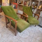 Vintage Forest Green Lounge Chairs